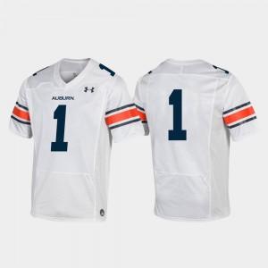 #1 Football 2019 White Auburn Jersey Replica For Kids 292235-495