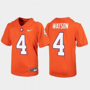 Orange Deshaun Watson Clemson Jersey For Kids Alumni Football Game #4 744513-581