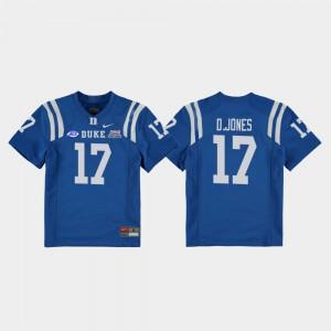 Daniel Jones Duke Jersey Royal 2018 Independence Bowl College Football Game #17 Kids 307956-209