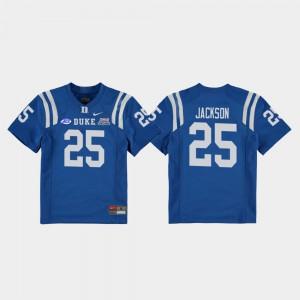 Deon Jackson Duke Jersey #25 Kids College Football Game Royal 2018 Independence Bowl 892202-906