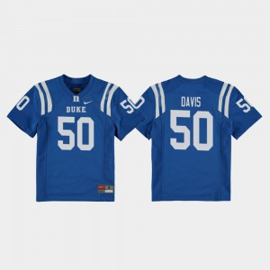 #50 Replica College Football Austin Davis Duke Jersey Royal Youth(Kids) 288029-594