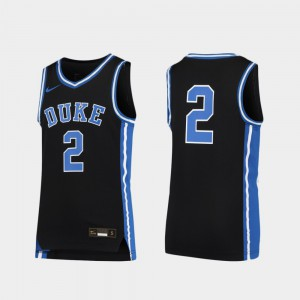 Youth(Kids) Duke Jersey Black #2 Basketball Replica 750140-829