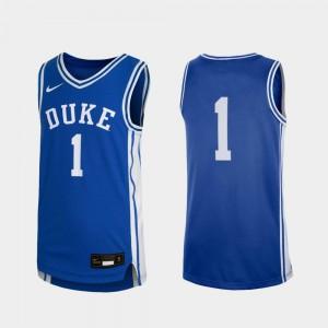 College Basketball Duke Jersey #1 Royal Replica For Kids 748497-901