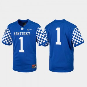 Youth(Kids) Replica UK Jersey #1 College Football Royal 269297-296