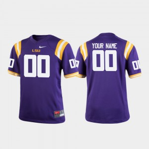 Youth College Football #00 LSU Customized Jerseys Purple 415459-199