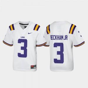 #3 For Kids White Replica Alumni Football Odell Beckham Jr. LSU Jersey 835022-243