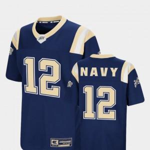Navy Jersey Foos-Ball Football Navy For Kids #12 Colosseum 243164-188