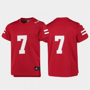 Nebraska Jersey Replica For Kids Scarlet College Football #7 292981-706