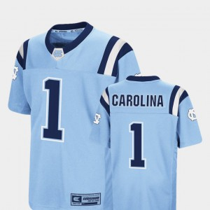 #1 Kids Carolina Blue UNC Jersey Foos-Ball Football Colosseum 825311-662