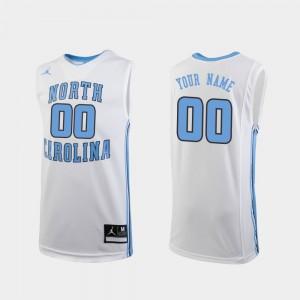 #00 UNC Custom Jersey Replica White College Basketball Youth(Kids) 263525-538