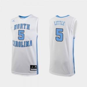 #5 Nassir Little UNC Jersey Kids Replica College Basketball White 863666-510
