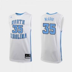 #35 College Basketball Replica Kids Ryan McAdoo UNC Jersey White 540819-388