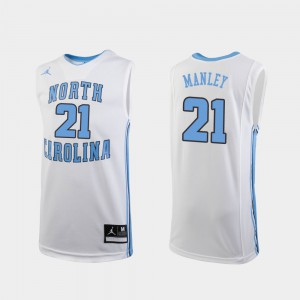 Replica #21 Sterling Manley UNC Jersey White College Basketball Kids 192148-351