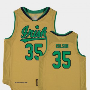 College Basketball Special Games Kids Gold Replica Bonzie Colson Notre Dame Jersey #35 162447-265