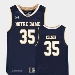 Navy Replica For Kids #35 Bonzie Colson Notre Dame Jersey College Basketball 738938-637