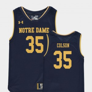 Replica College Basketball Special Games Kids #35 Bonzie Colson Notre Dame Jersey Navy 421275-911