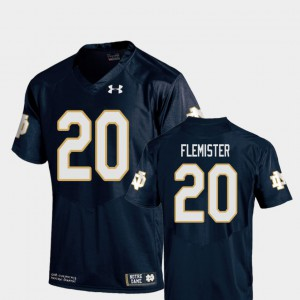 College Football C'Bo Flemister Notre Dame Jersey Youth(Kids) Replica Navy #20 310490-287