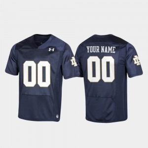 Replica #00 Football Navy Youth Notre Dame Customized Jerseys 523729-747
