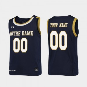 Replica Notre Dame Customized Jerseys Navy College Basketball #00 Youth 847499-957
