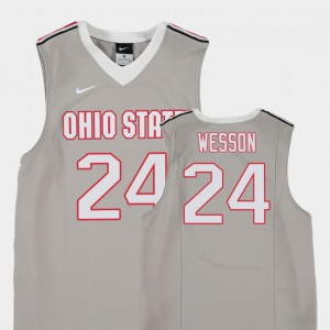 College Basketball For Kids Replica Andre Wesson OSU Jersey Gray #24 238677-851