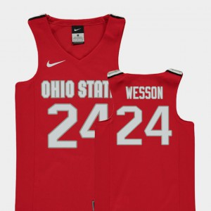 Andre Wesson OSU Jersey College Basketball Kids Red Replica #24 326729-679