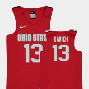 Red Andrew Dakich OSU Jersey Youth Replica College Basketball #13 832440-354