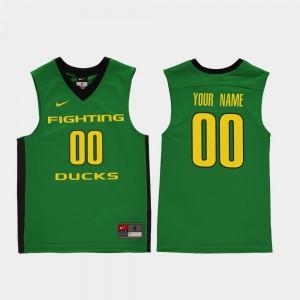 Replica Green Kids #00 Oregon Customized Jersey College Basketball 716492-298