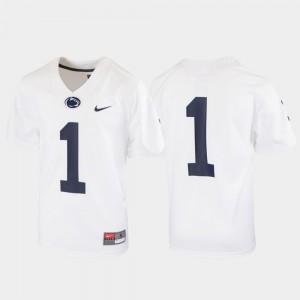 Penn State Jersey #1 Kids Untouchable Football White 751441-457