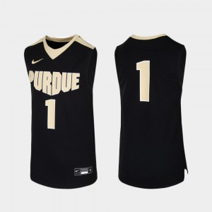 Replica Black Youth #1 College Basketball Purdue Jersey 645443-109