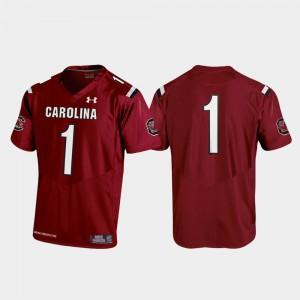 Youth #1 Replica South Carolina Jersey Football 2019 Garnet 459326-820