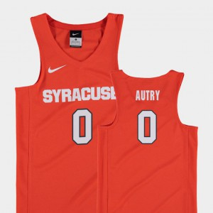 Youth #0 Replica Adrian Autry Syracuse Jersey College Basketball Orange 195766-166