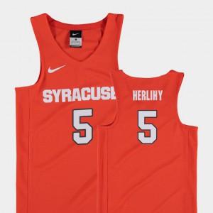 #5 For Kids College Basketball Patrick Herlihy Syracuse Jersey Replica Orange 359132-428
