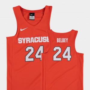 Shaun Belbey Syracuse Jersey #24 Replica Orange Kids College Basketball 267379-670