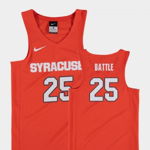 Youth #25 Orange College Basketball Replica Tyus Battle Syracuse Jersey 974355-807