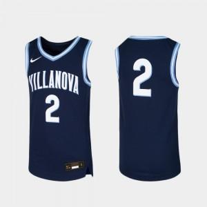 Youth(Kids) Navy Basketball Villanova Jersey Replica #2 675507-524