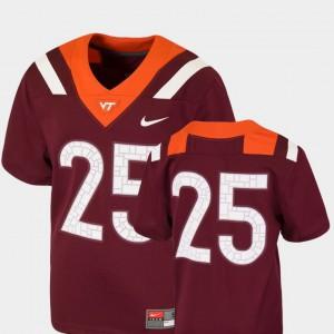 Virginia Tech Jersey College Football #25 For Kids Maroon Team Replica 187900-852