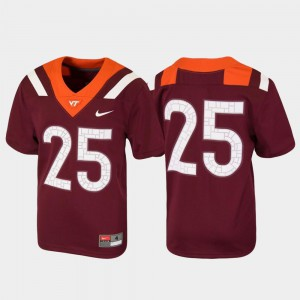 #25 Football Virginia Tech Jersey Maroon Untouchable Youth 107419-904