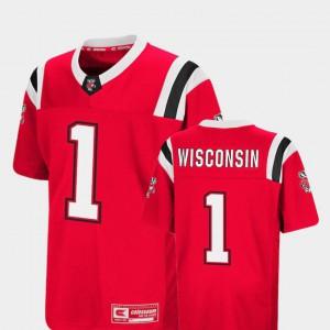 Foos-Ball Football #1 Kids Wisconsin Jersey Red Colosseum 698672-424