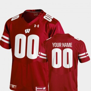 Wisconsin Custom Jersey #00 Red College Football For Kids 2018 Replica 706078-945